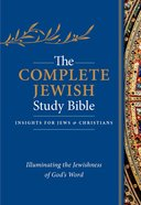 Complete Jewish Study Bible, the Indexed Blue Flexisoft With Gold Lettering Premium Imitation Leather