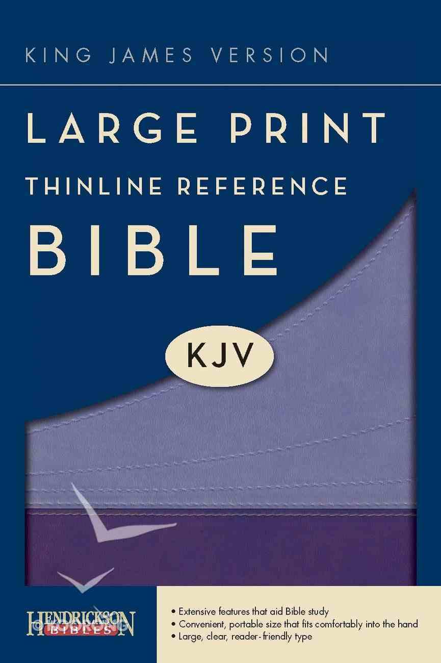 KJV Large Print Thinline Reference Bible Violet/Lilac (Red Letter Edition) Imitation Leather
