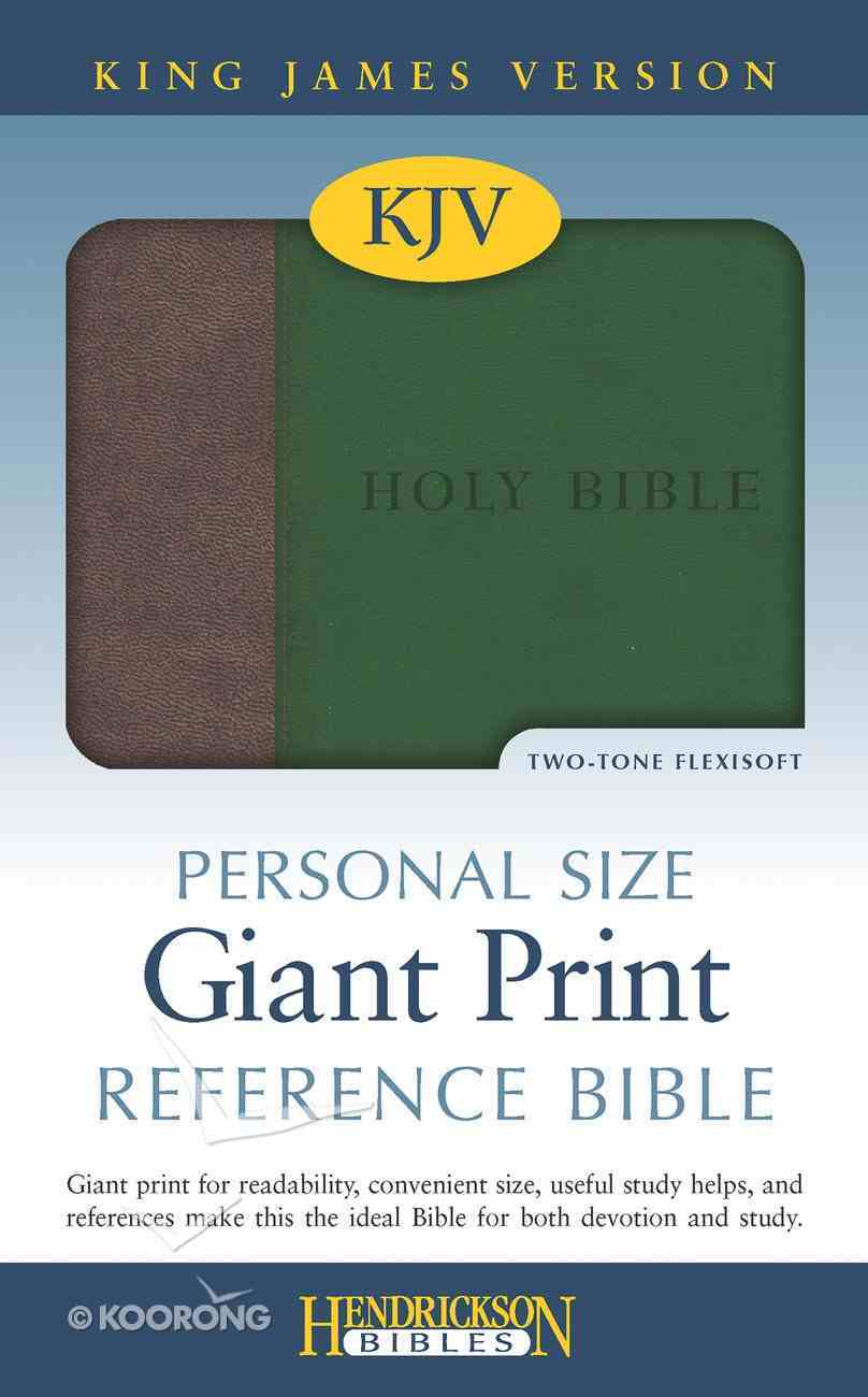 KJV Personal Size Giant Print Reference Bible Brown/ Green Red Letter Edition Imitation Leather