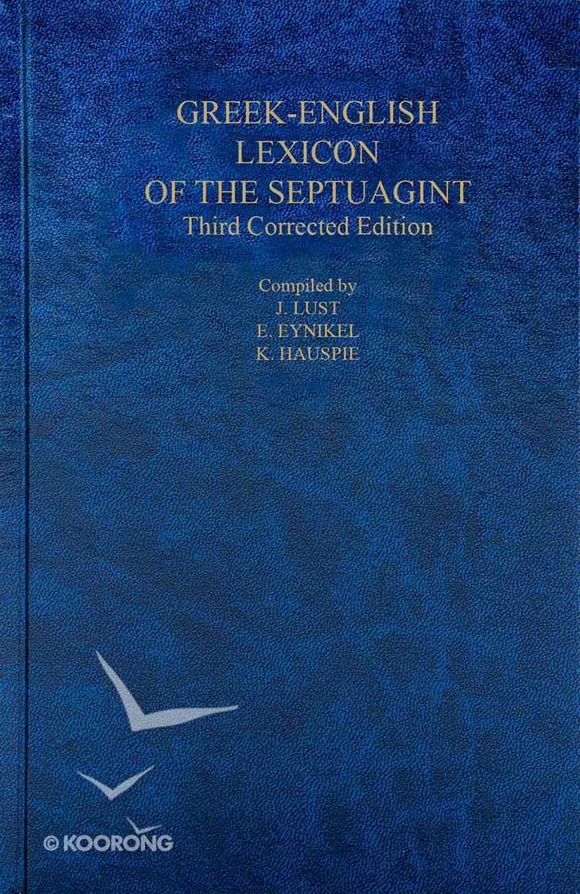 A Greek English Lexicon of the Septuagint Hardback