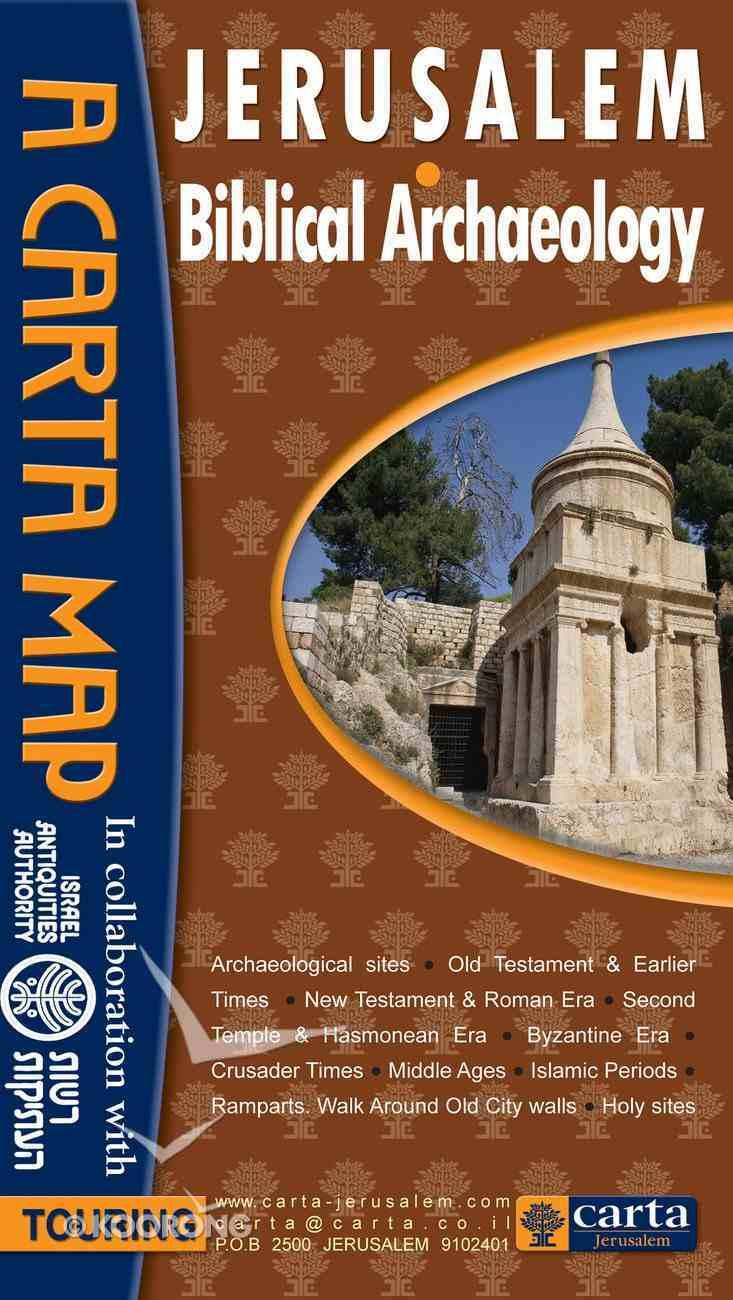 Carta Map: Jerusalem: Biblical Archaeology Chart/card