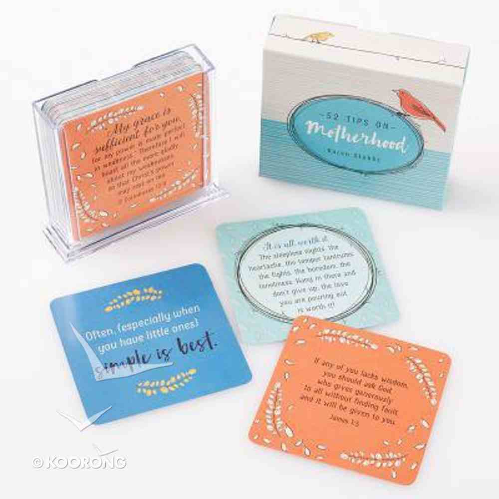 Tip Cards on Motherhood, 52 Double Sided Cards, Acrylic Stand Box