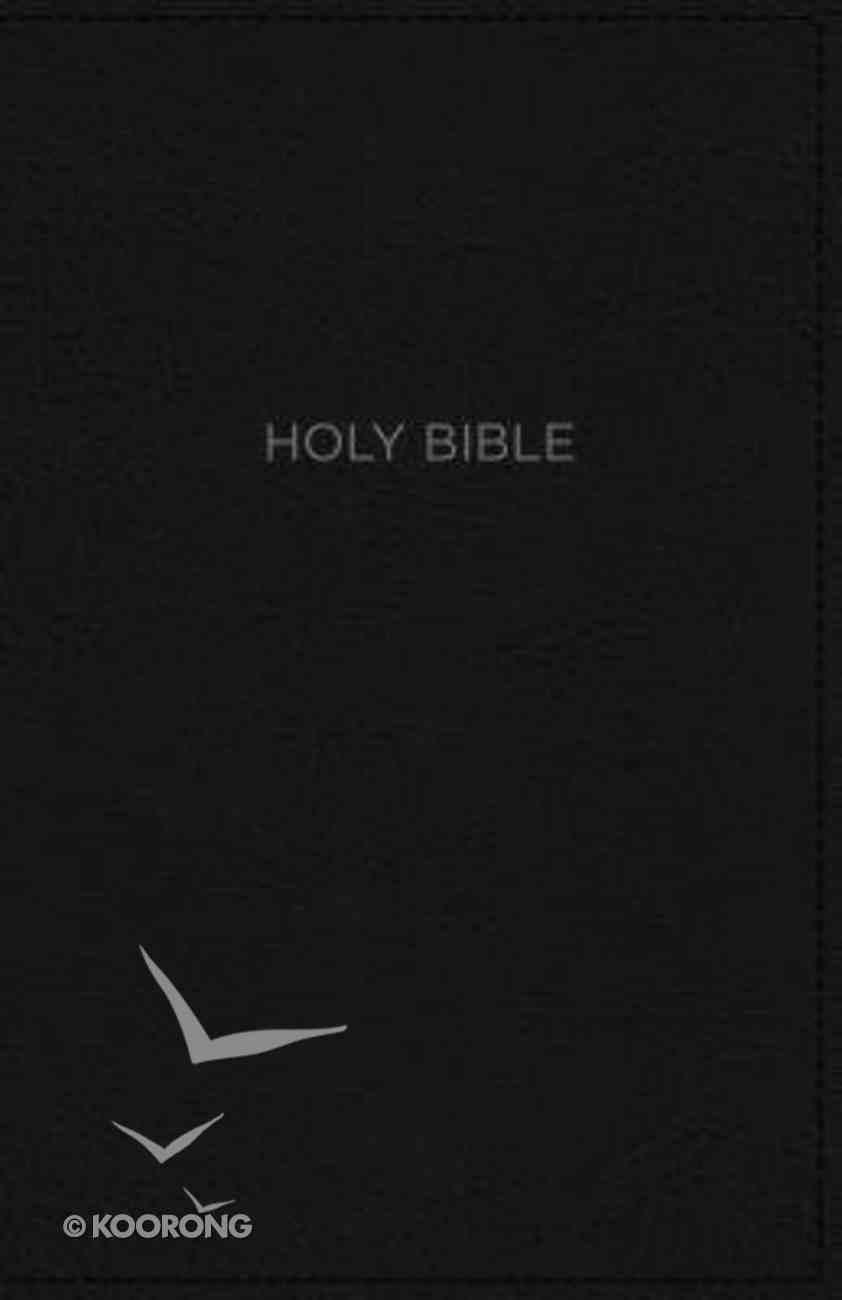 NKJV Thinline Bible Black (Red Letter Edition) Premium Imitation Leather