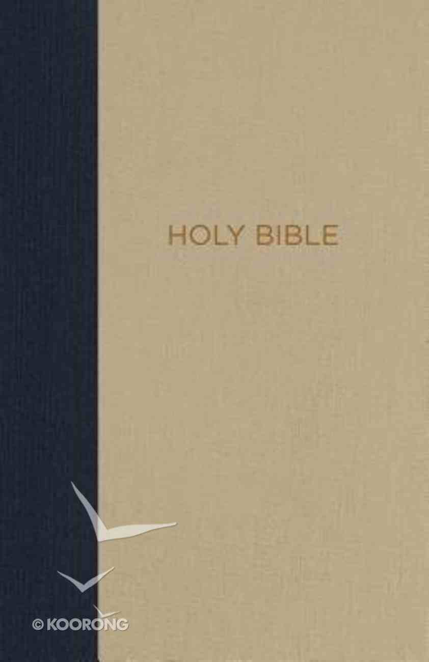 NKJV Thinline Bible Compact Blue/Tan (Red Letter Edition) Hardback
