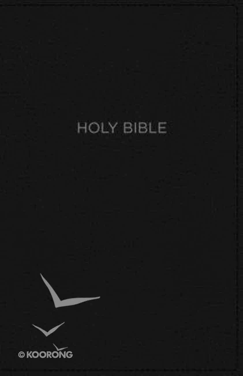 NKJV Thinline Bible Compact Black (Red Letter Edition) Premium Imitation Leather