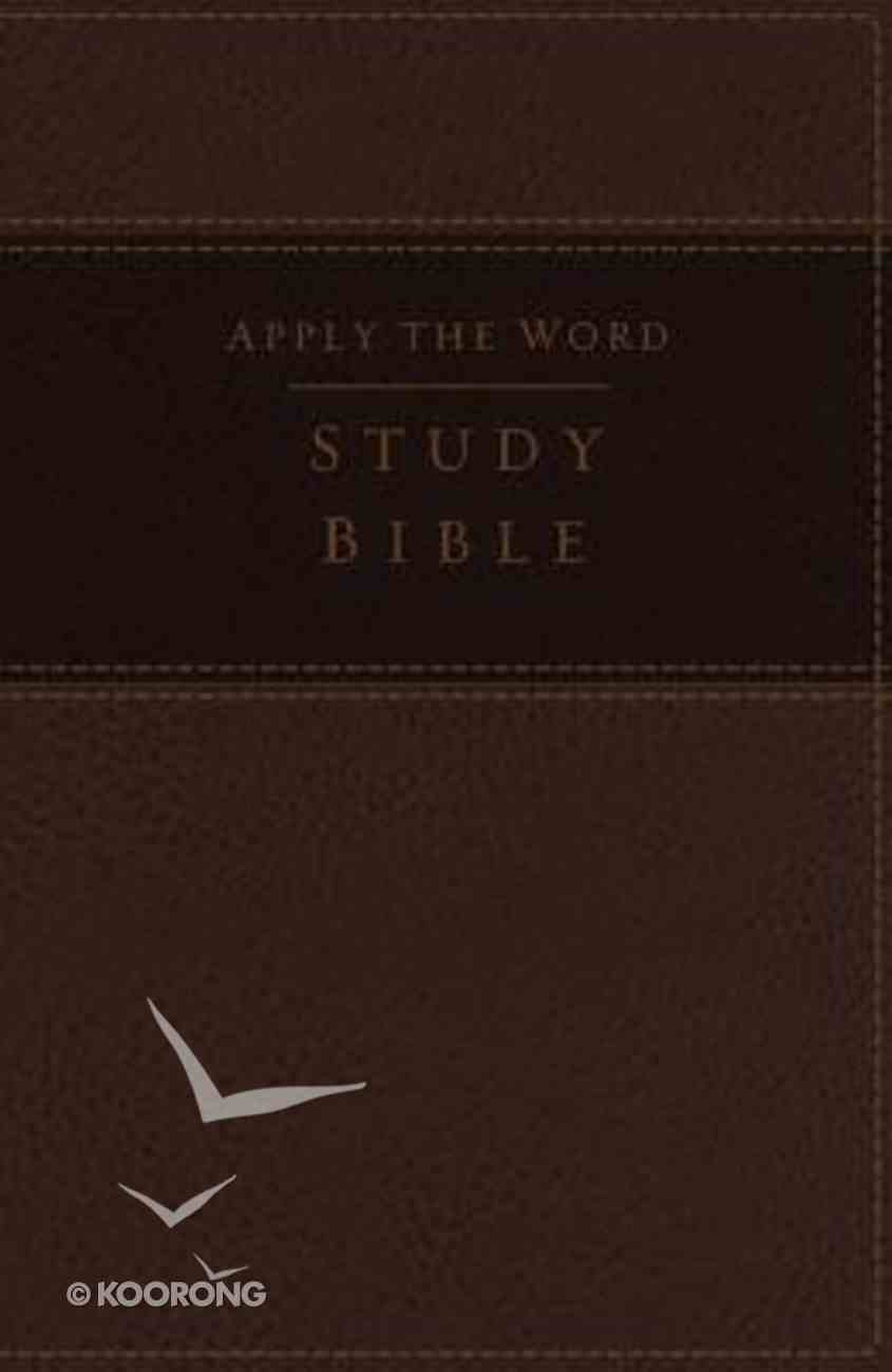 NKJV Apply the Word Study Large Print Bible Brown (Red Letter Edition) Imitation Leather