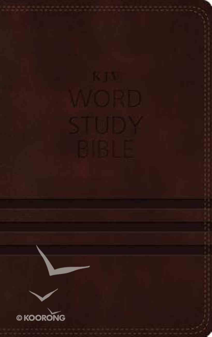 KJV Word Study Bible Brown (Red Letter Edition) Premium Imitation Leather