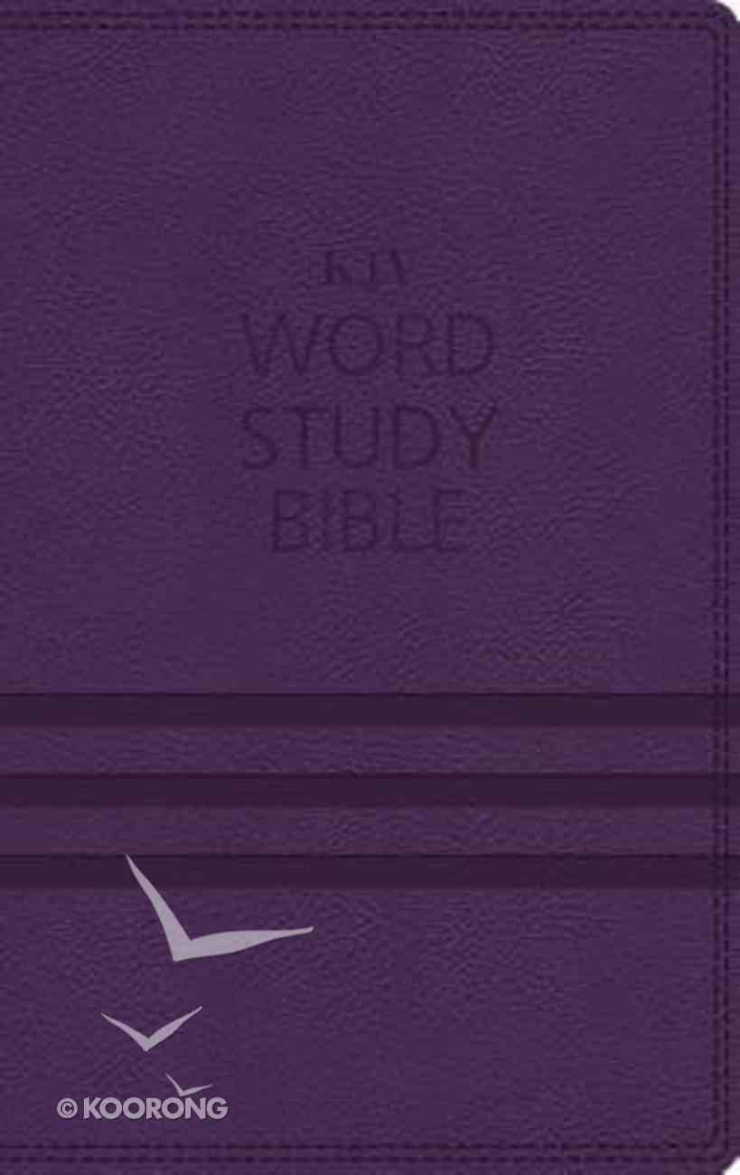 KJV Word Study Bible Purple (Red Letter Edition) Premium Imitation Leather
