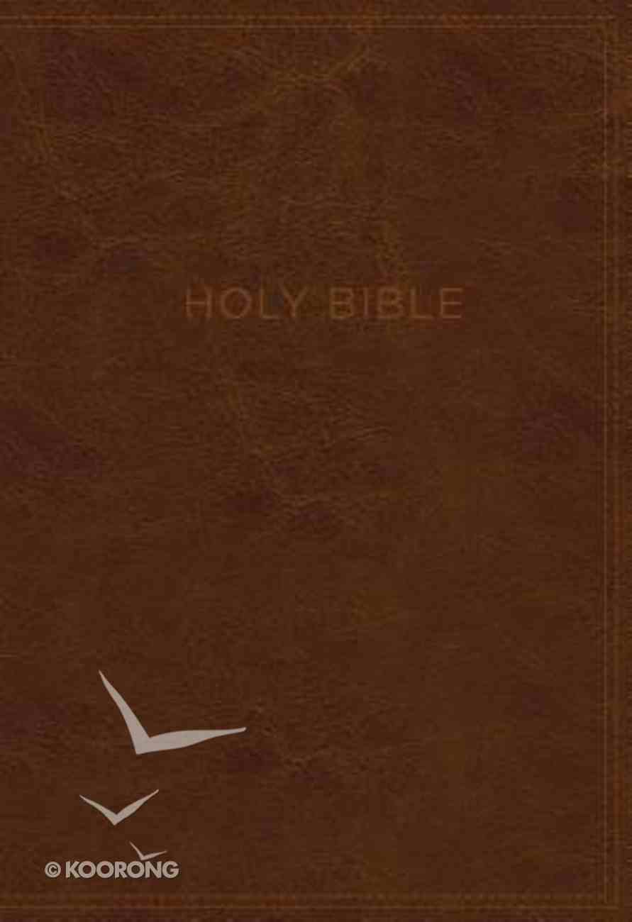 KJV Know the Word Study Bible Brown/Burgundy (Red Letter Edition) Premium Imitation Leather