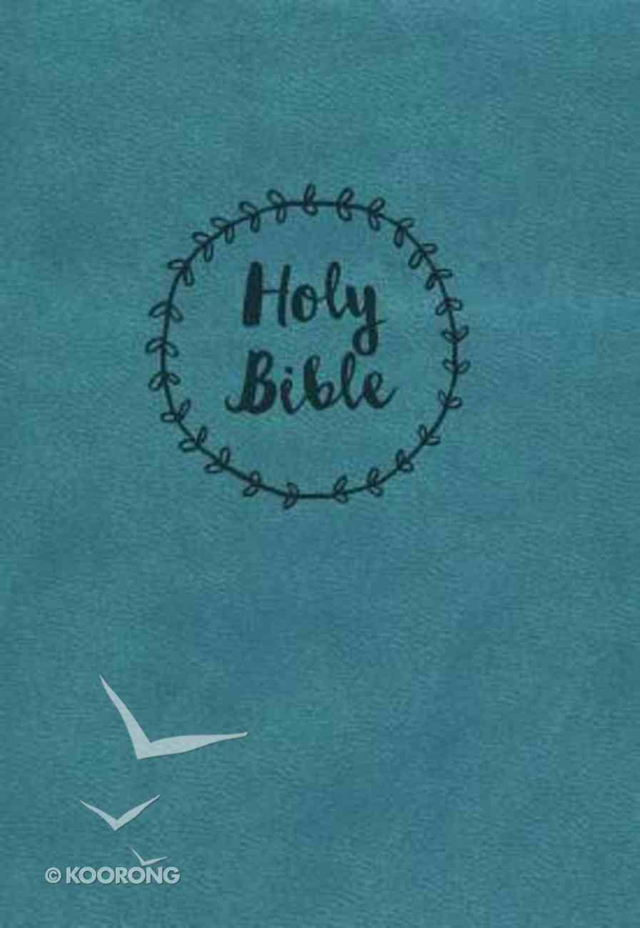 NKJV Compact Large Print Reference Bible Blue Imitation Leather