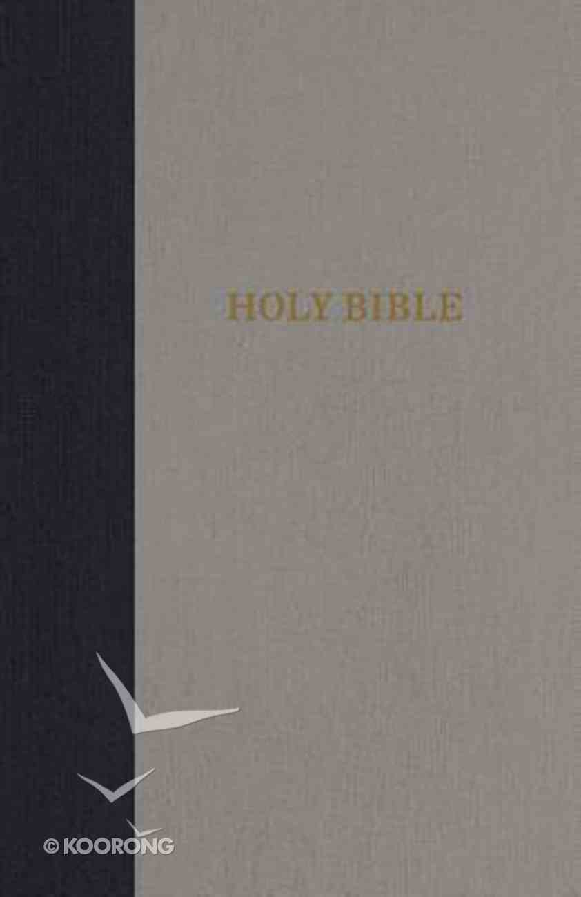 KJV Thinline Bible Compact Navy/Gray (Red Letter Edition) Hardback
