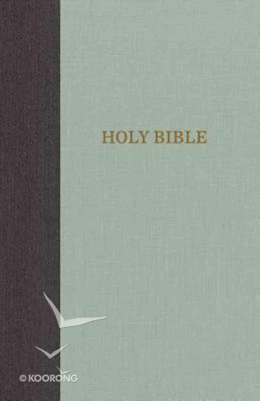 KJV Thinline Bible Large Print Gray/Green (Red Letter Edition) Hardback