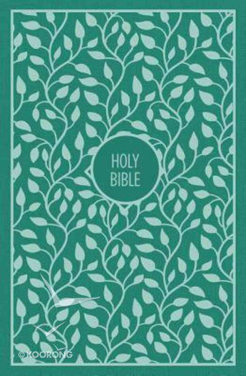 KJV Thinline Bible Large Print Green (Red Letter Edition) Hardback