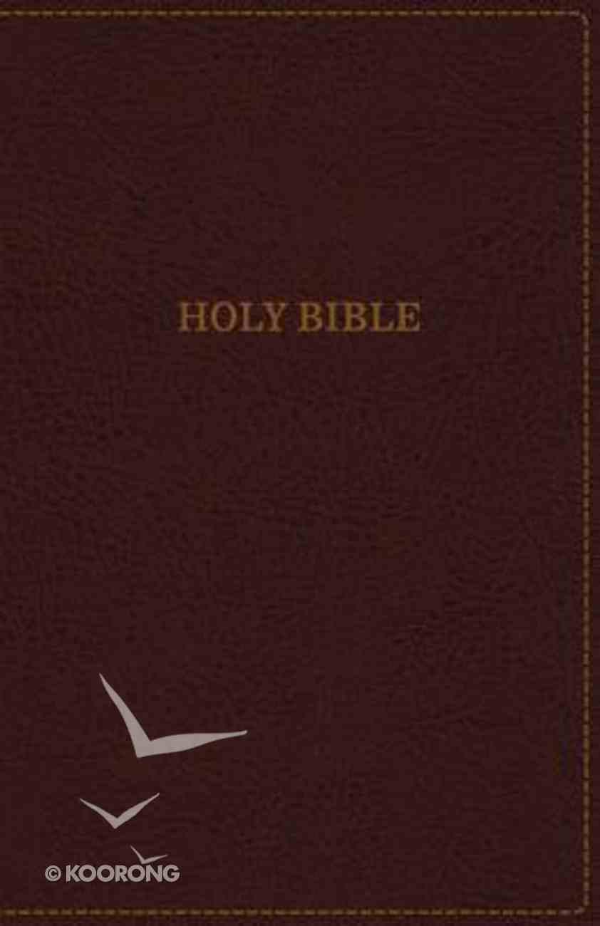 KJV Thinline Bible Large Print Burgundy (Red Letter Edition) Premium Imitation Leather