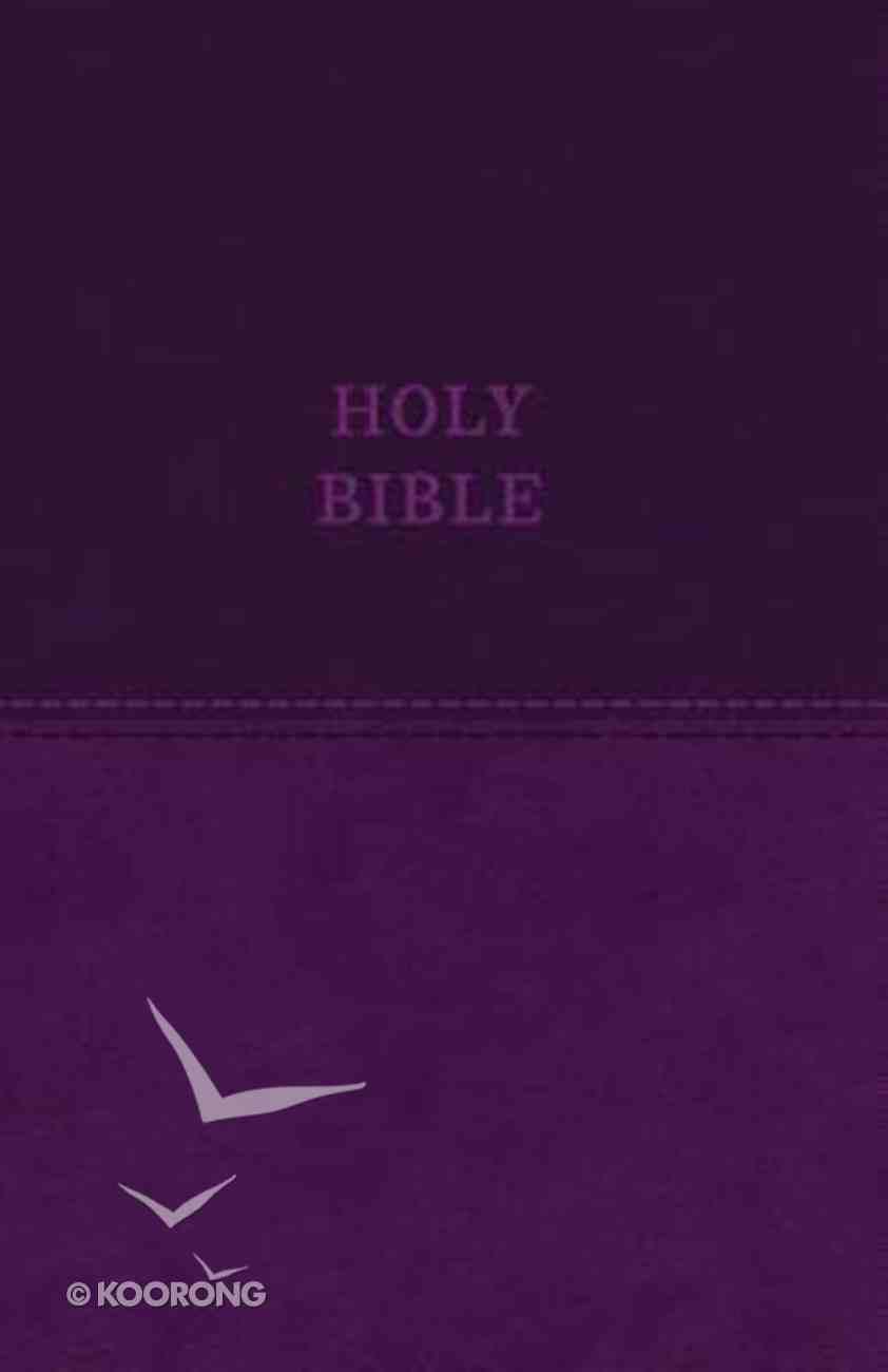 KJV Value Thinline Bible Purple (Red Letter Edition) Premium Imitation Leather