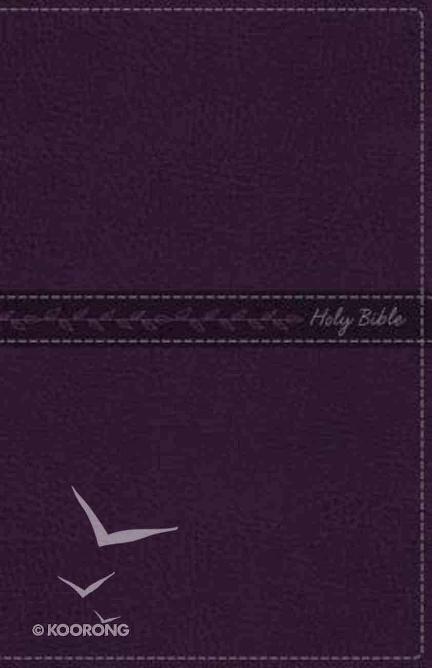 KJV Thinline Bible Purple (Red Letter Edition) Premium Imitation Leather