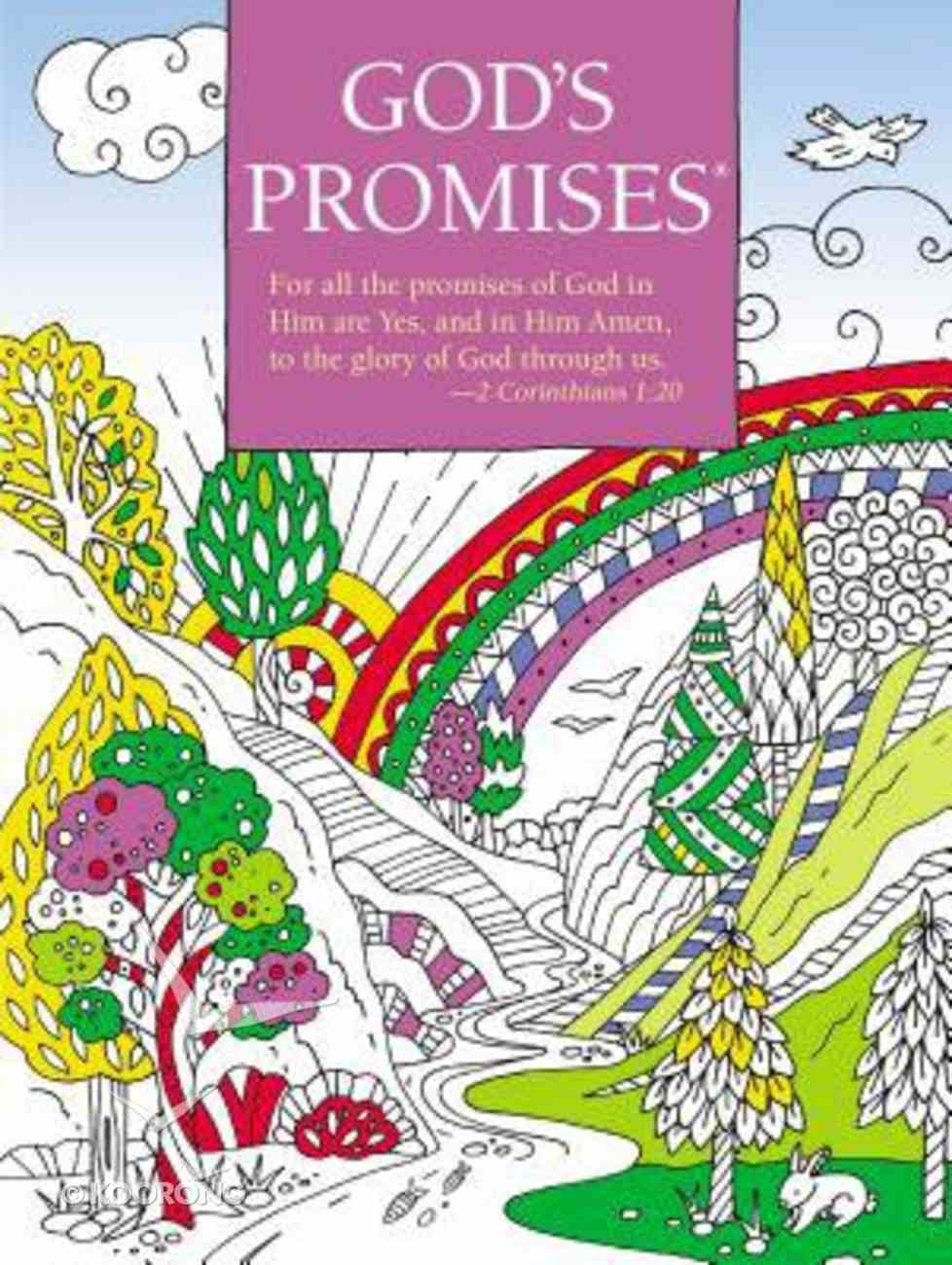 God's Promises Coloring Book (Adult Coloring Books Series) Paperback