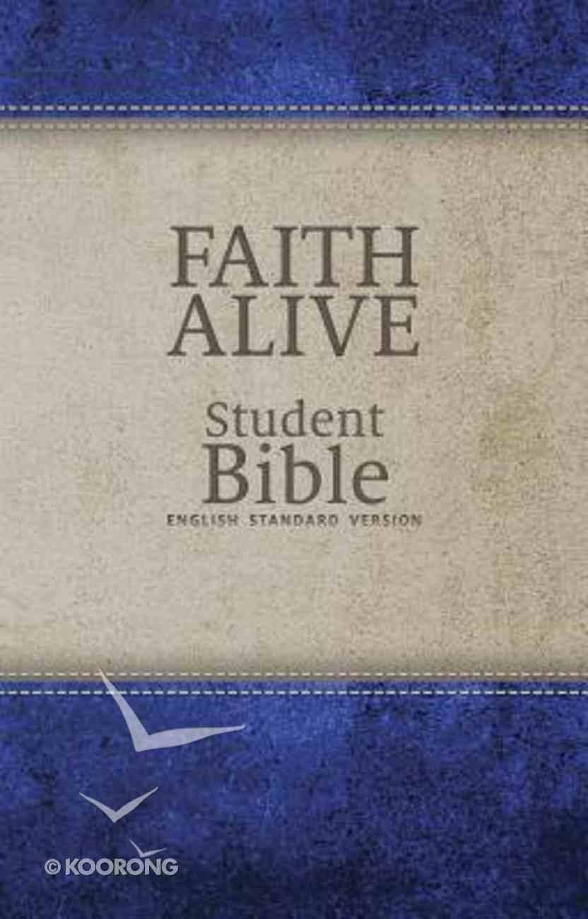 ESV Faith Alive Student Bible Blue/Tan (Lutheran Edition) Imitation Leather
