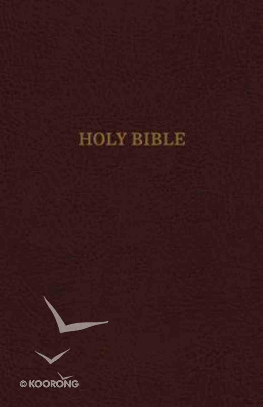 KJV Thinline Indexed Reference Bible Burgundy (Red Letter Edition) Bonded Leather