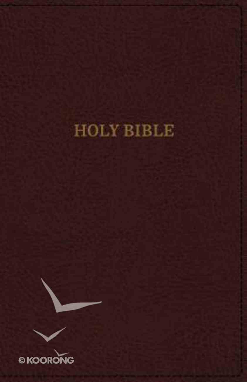 KJV Deluxe Thinline Reference Bible Burgundy (Red Letter Edition) Premium Imitation Leather