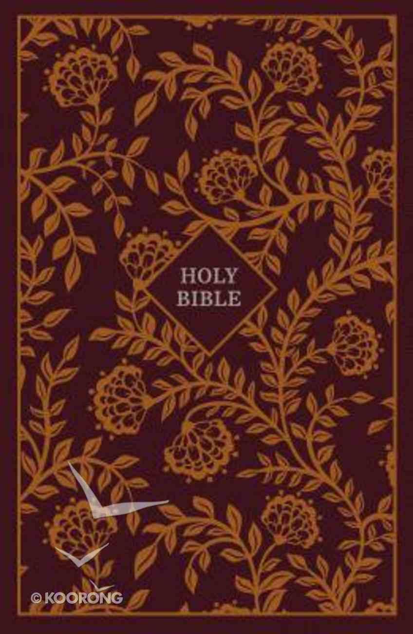 KJV Thinline Reference Bible Burgundy/Orange (Red Letter Edition) Hardback