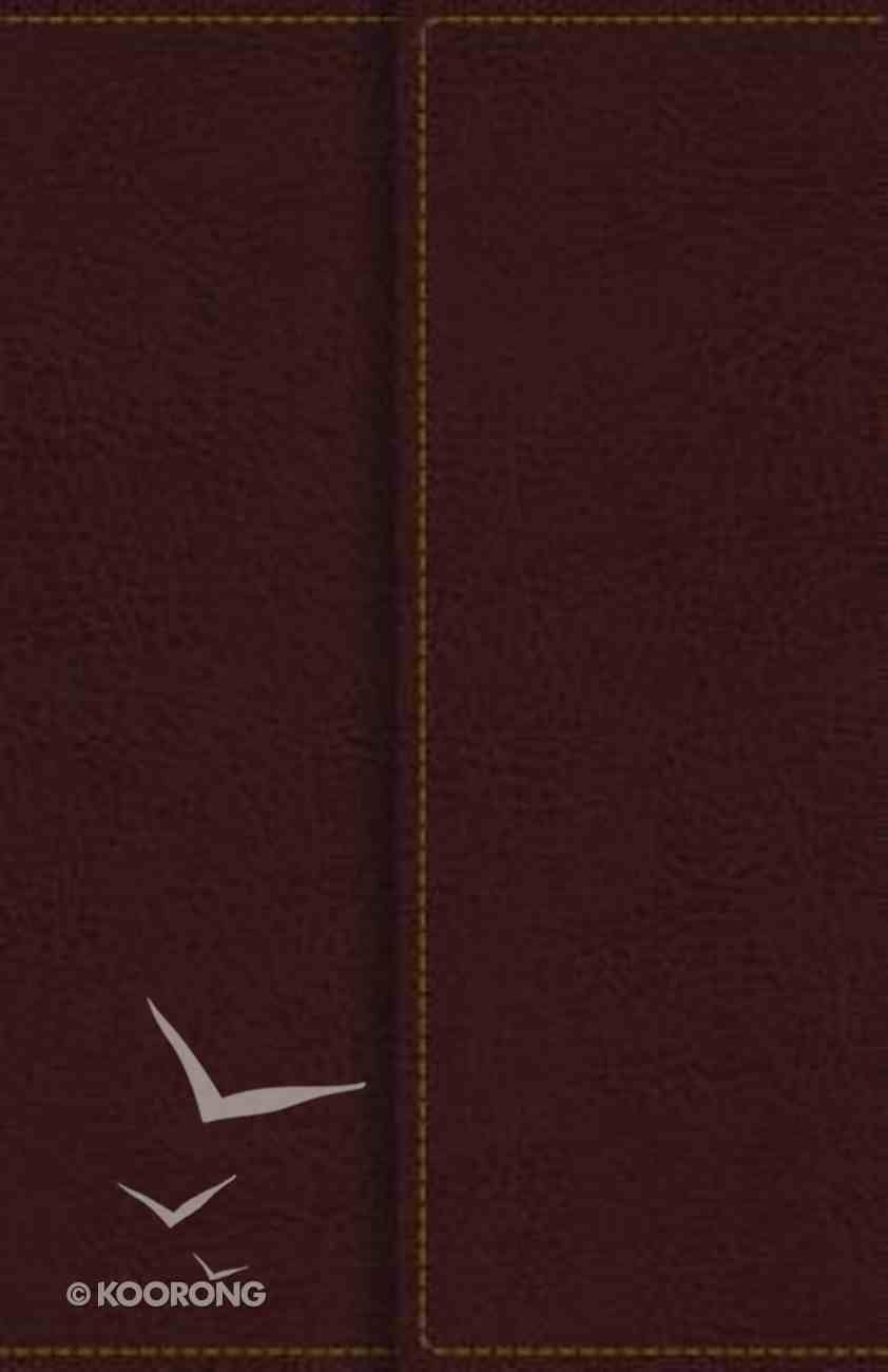 KJV Reference Bible Compact Large Print Snapflap Burgundy (Red Letter Edition) Premium Imitation Leather