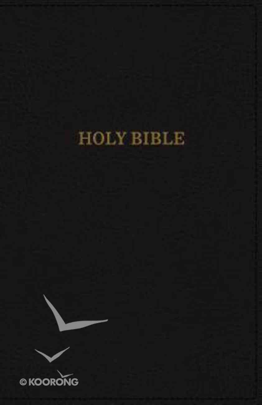 KJV Deluxe Reference Bible Compact Large Print Black (Red Letter Edition) Premium Imitation Leather