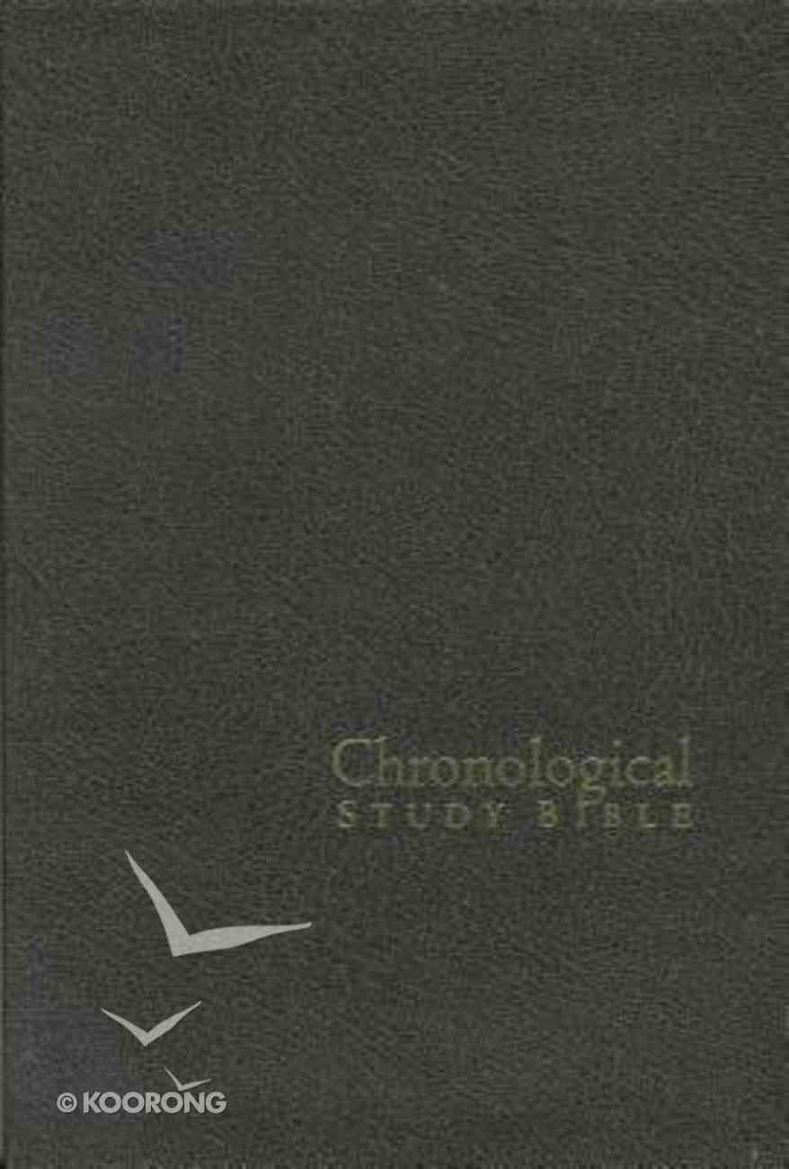 NKJV Chronological Study Bible Distressed Charcoal Bonded Leather