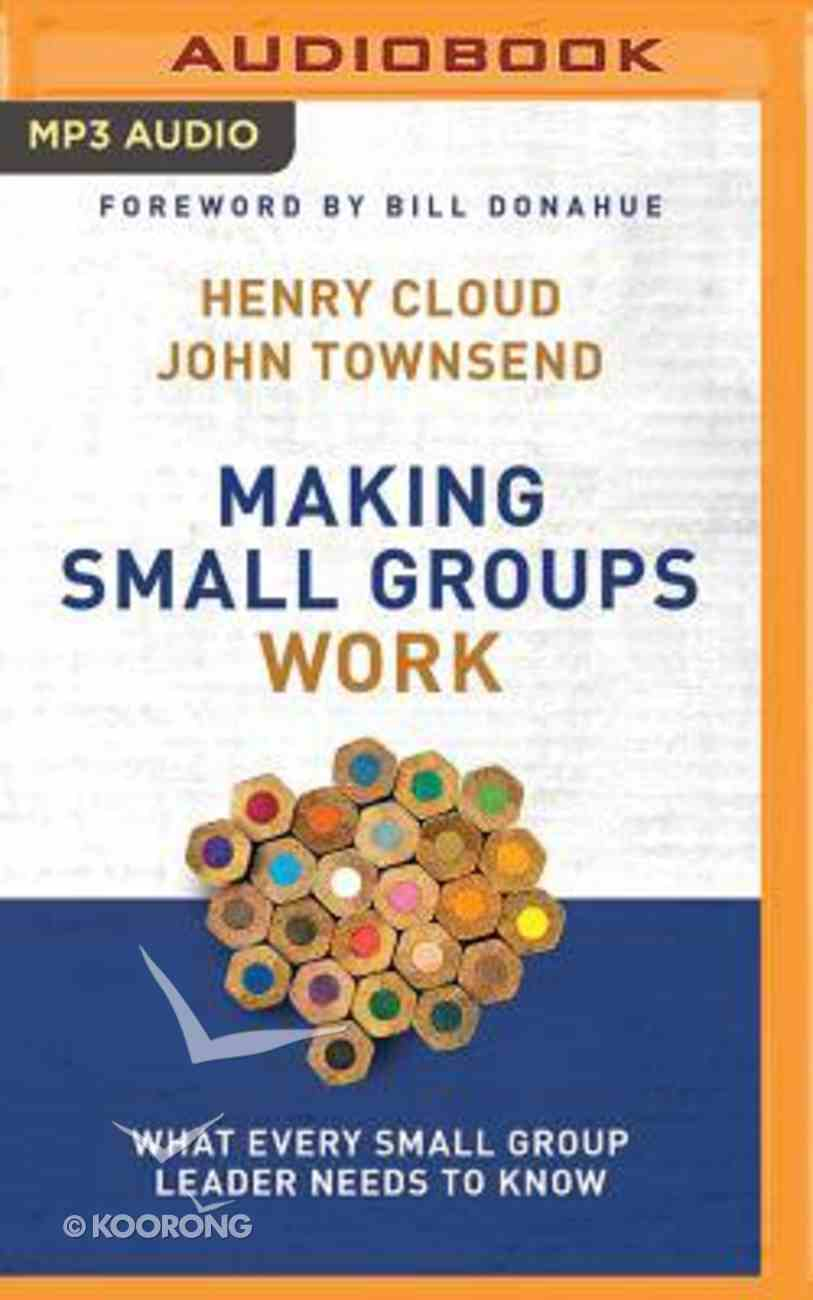 Making Small Groups Work: What Every Small Group Leader Needs to Know (Unabridged, Mp3) CD