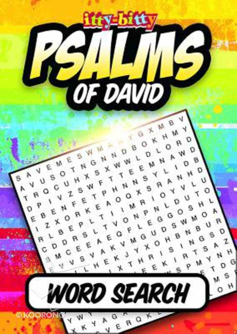 Psalms of David Word Search (Itty Bitty Bible Series) Paperback