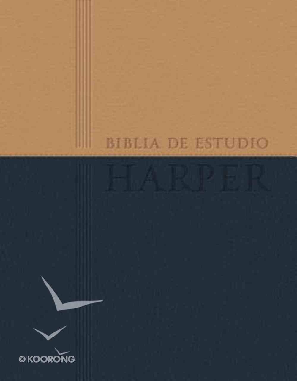 Rvr 1960 Biblia De Estudio Harper Con Indice Navy (Red Letter Edition) (Harper Study Bible) Premium Imitation Leather