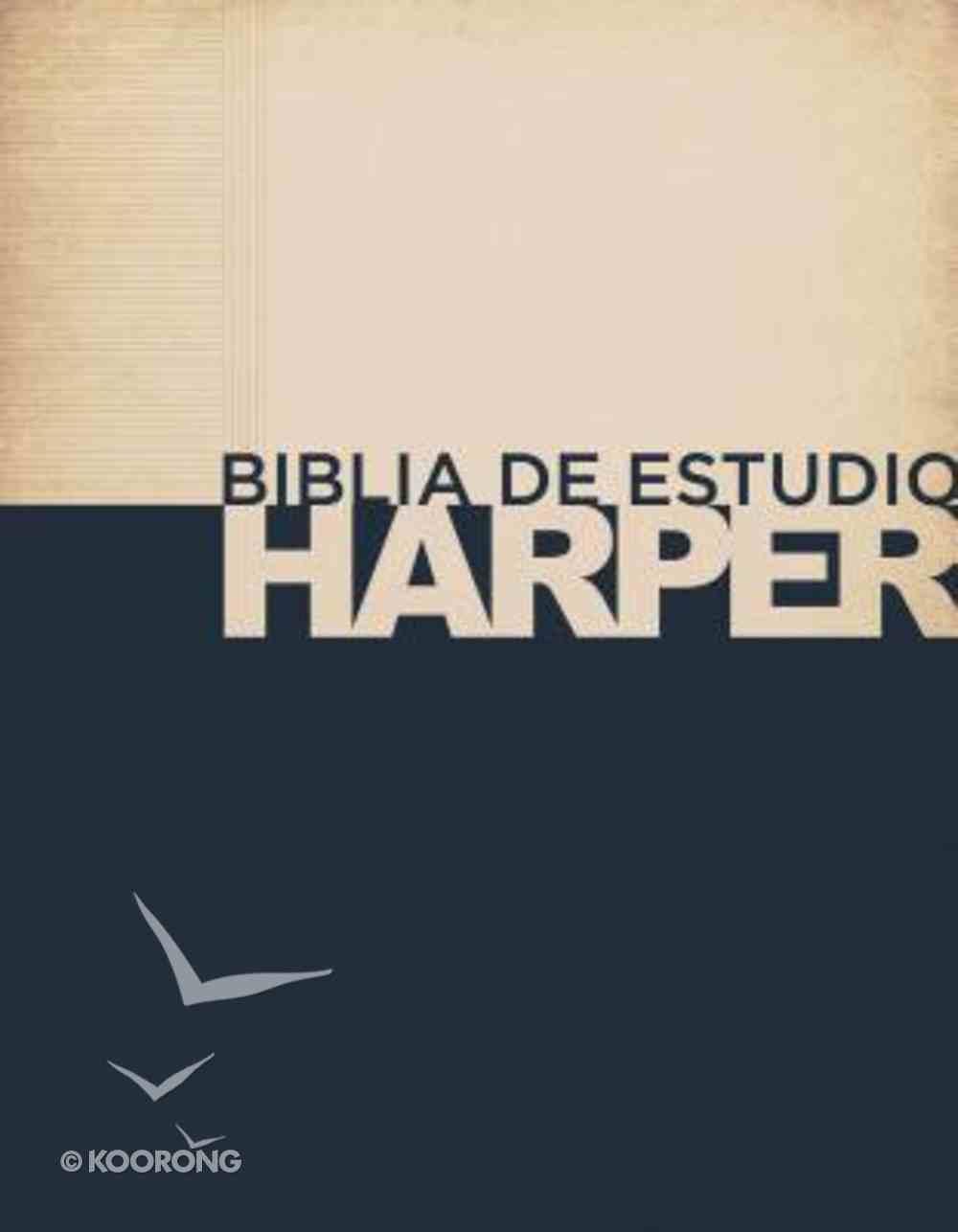 Rvr 1960 Biblia De Estudio Harper Tapa Dura Con Ndice (Spanish) Hardback