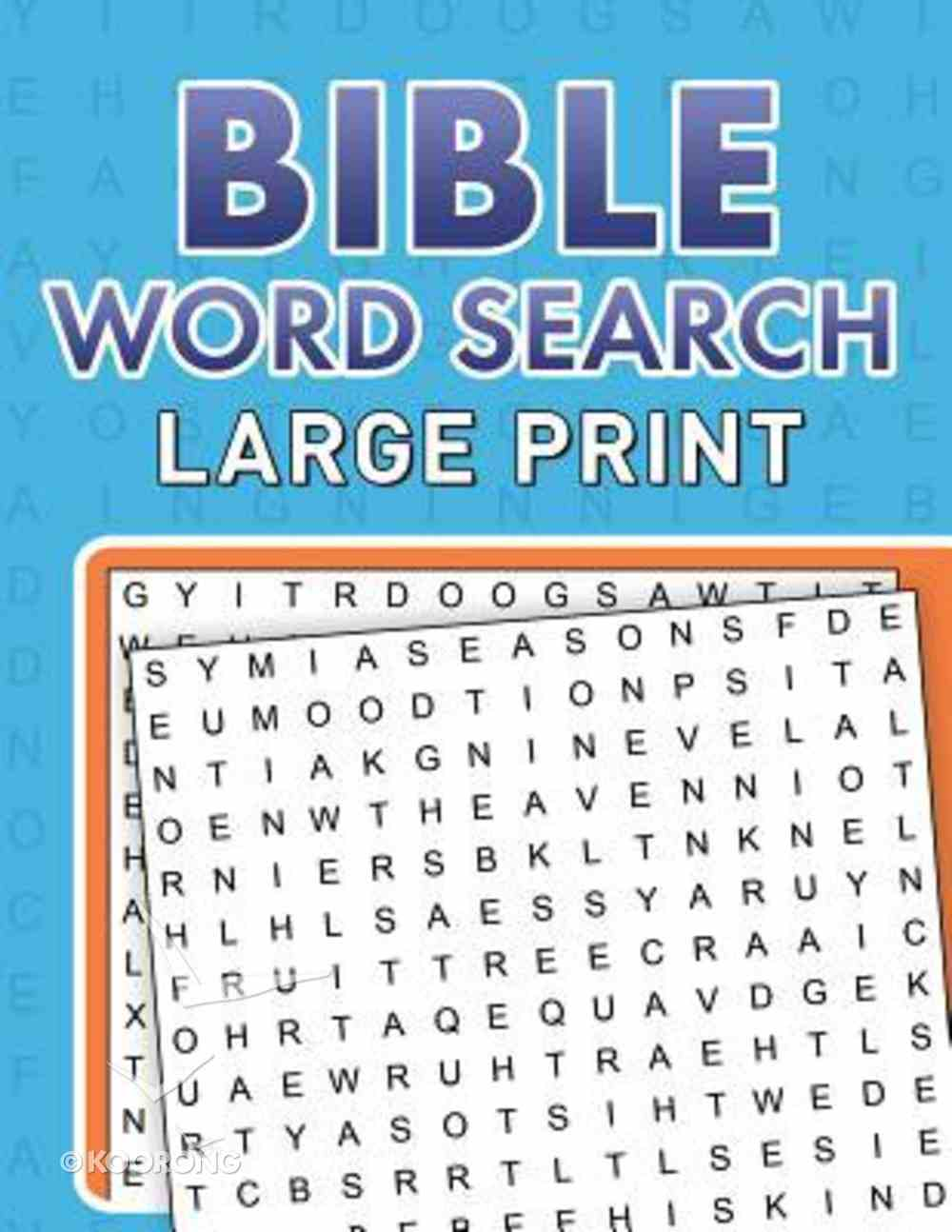 Bible Word Searches (Large Print) Paperback