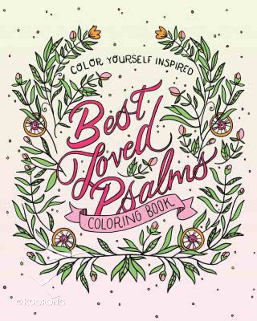 Best Loved Psalms Coloring Book (Adult Coloring Books Series) Paperback