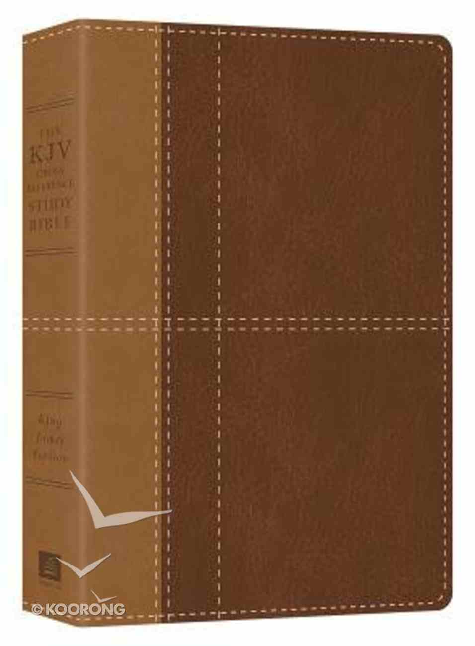 KJV Cross Reference Study Bible Indexed Brown Paperback
