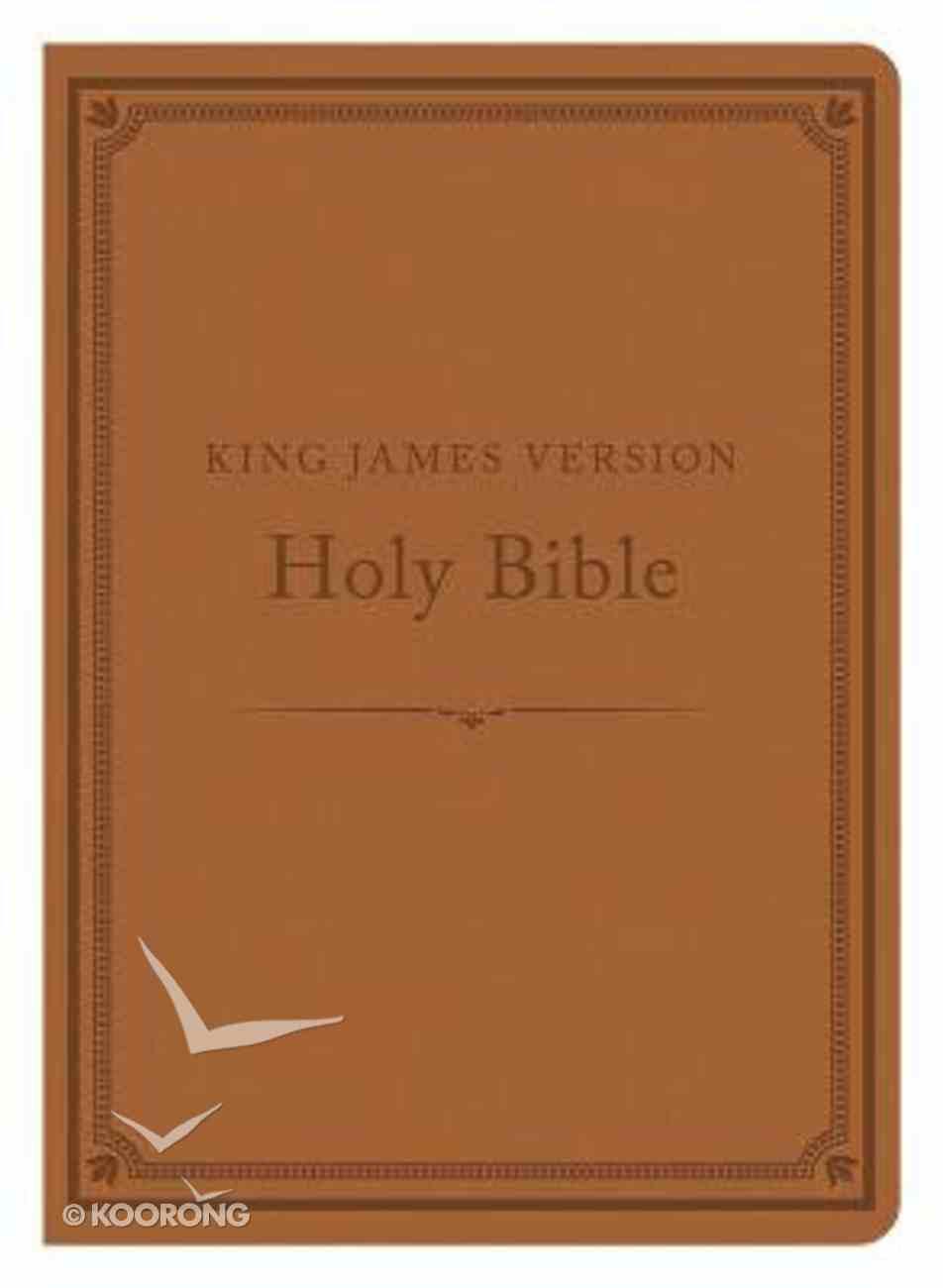 KJV Compact Gift & Award Bible Reference Edition Camel Imitation Leather