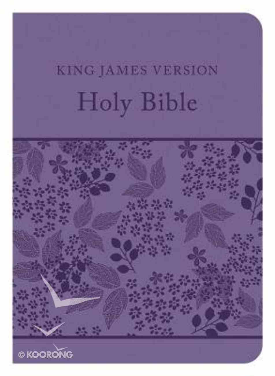 KJV Compact Gift & Award Bible Reference Edition Purple Imitation Leather