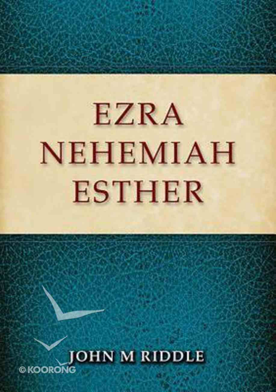Ezra, Nehemiah, Esther Paperback