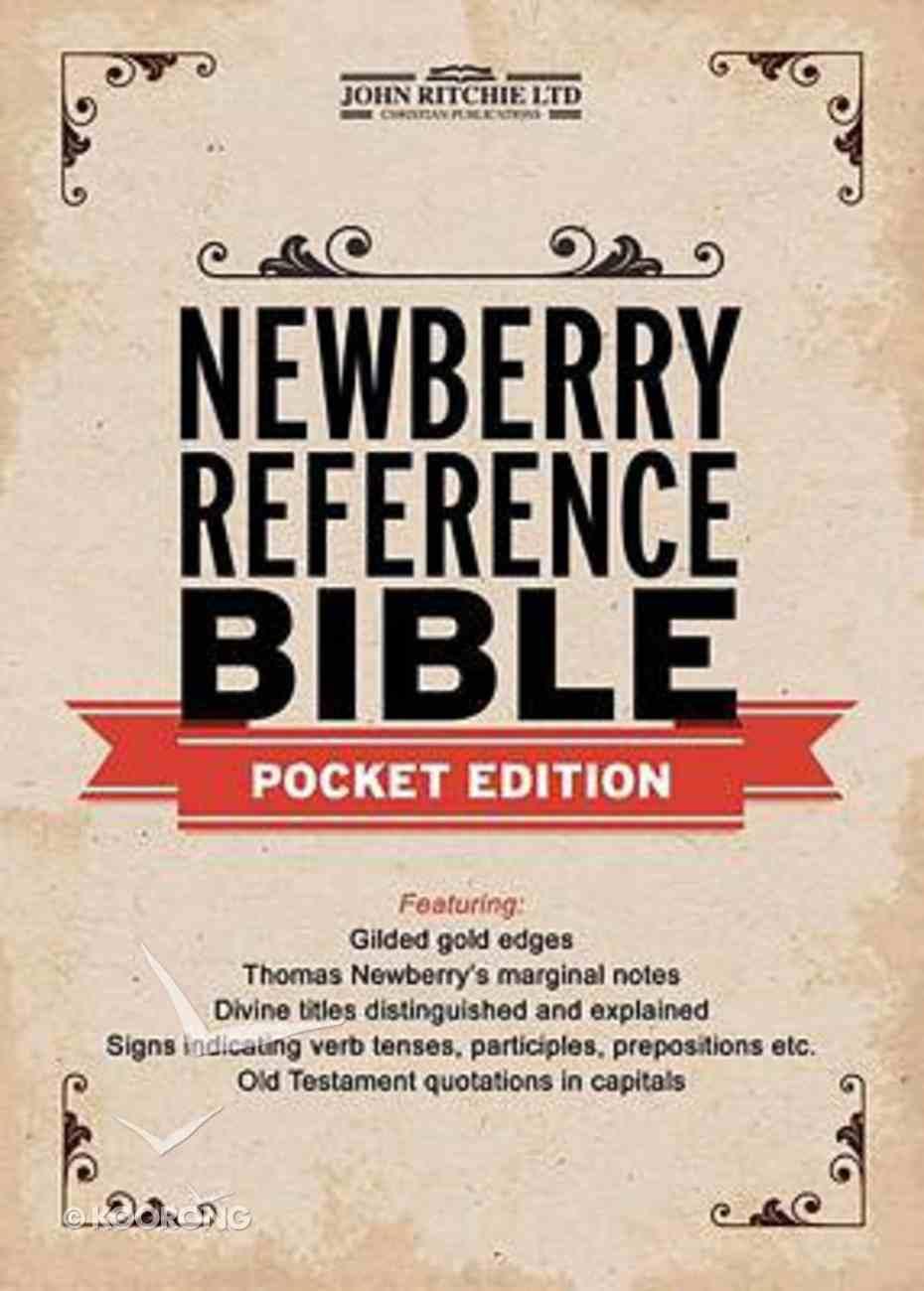 KJV Newberry Reference Bible Pocket Edition Genuine Leather