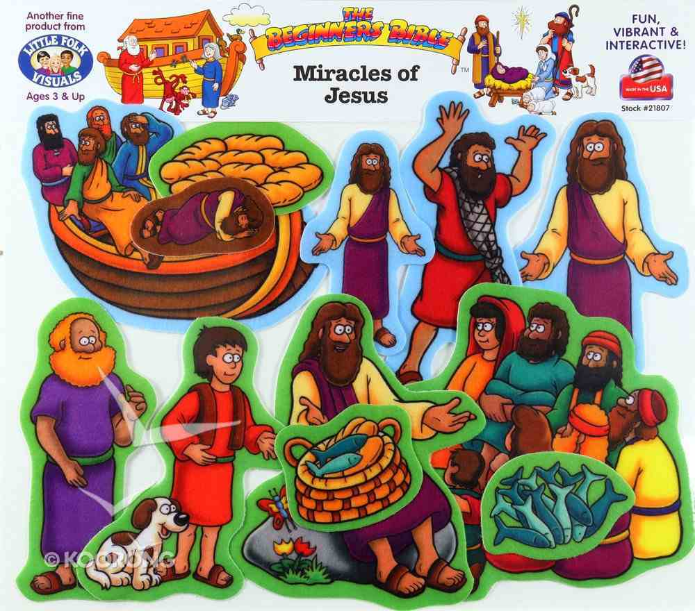 Miracles of Jesus (Beginners Bible In Felt Series) Flannelgraph