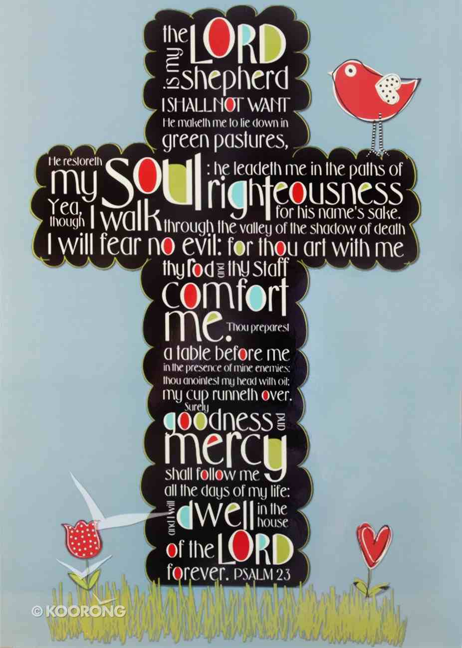 Poster Large: Psalm 23 Poster