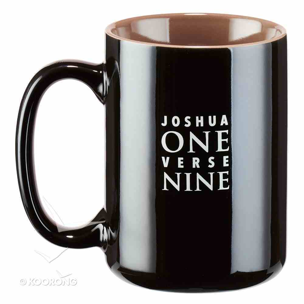 Ceramic Mug: Father's Day, Strong & Courageous (Black/brown) Homeware