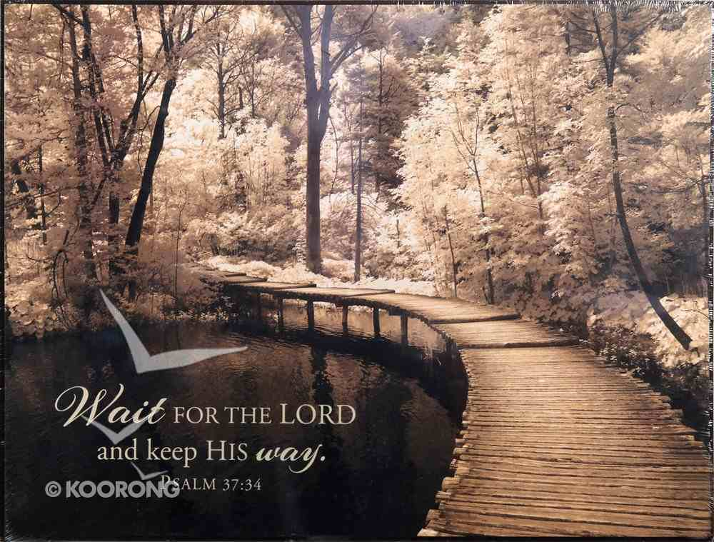 Mounted Print: Take My Lead I (Psalm 37:34) Plaque