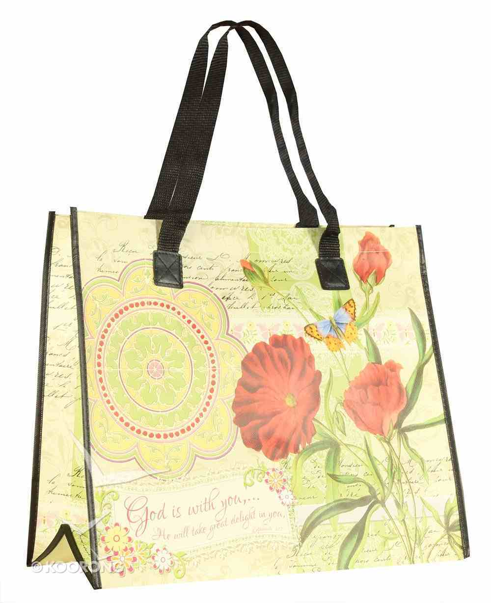 Tote Bag: God is With You (With Black Handles) Soft Goods