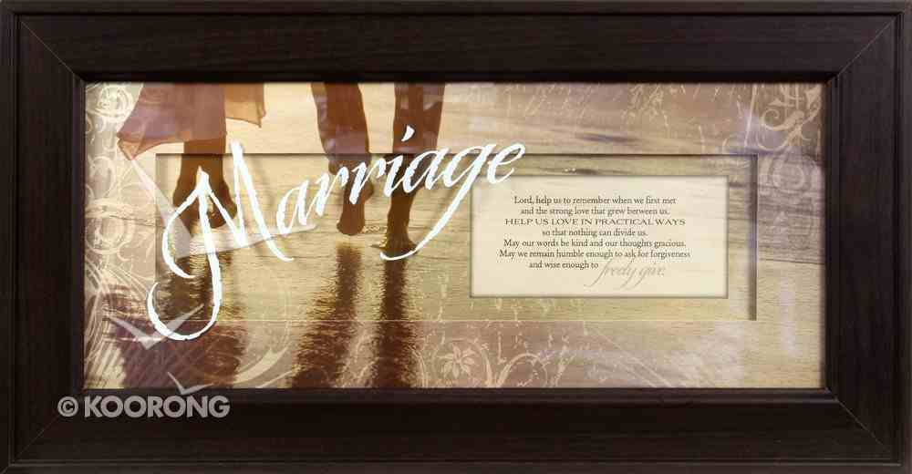 "Framed Plaque: Marriage (8"" X 16"") (Words Of Grace) Plaque"