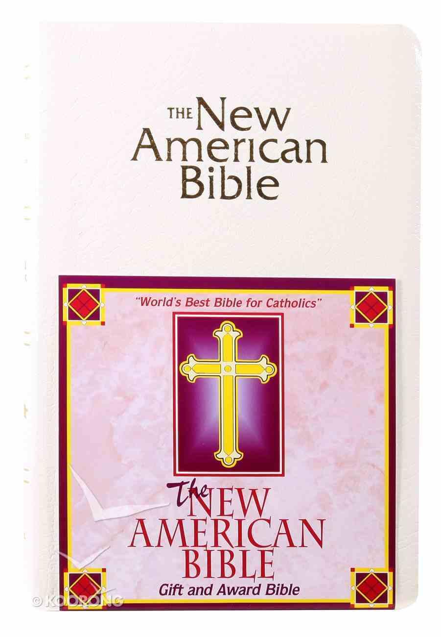 Nab Catholic Gift and Award White Imitation Leather