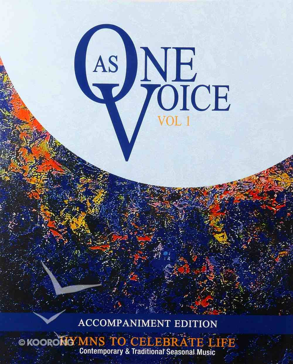 As One Voice Volume 1 (Accompaniment) New Edition (Music Book) Spiral