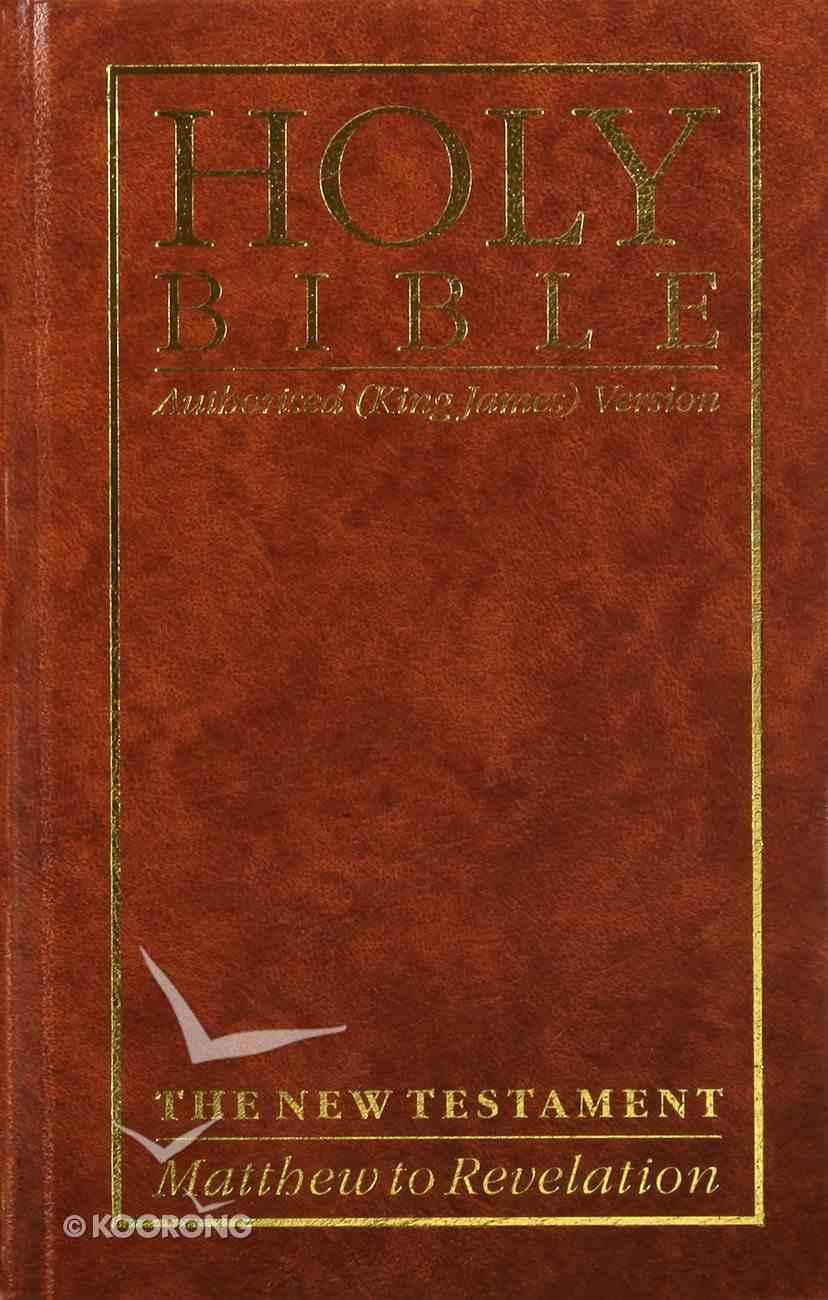 KJV Giant Print New Testament Brown (Black Letter Edition) Hardback