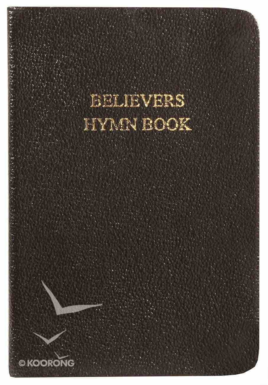 Believers Hymn Book - Words Only (Black Music Book) Genuine Leather