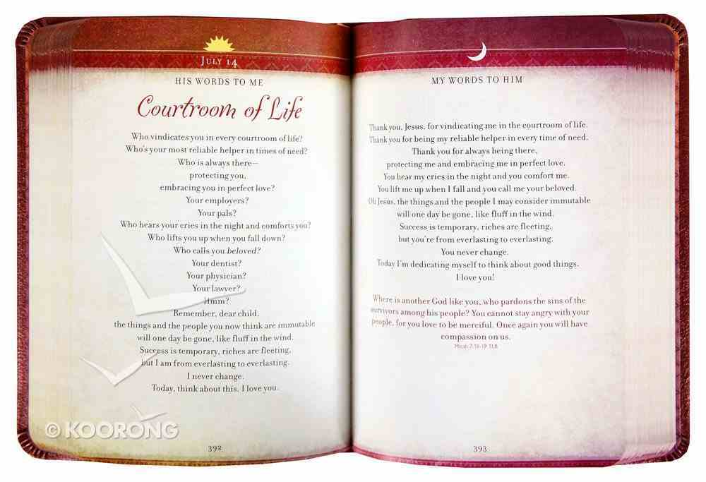 Walking With Jesus: Praise and Prayers For Lifes Ups and Downs (Morning & Evening Devotional) Imitation Leather